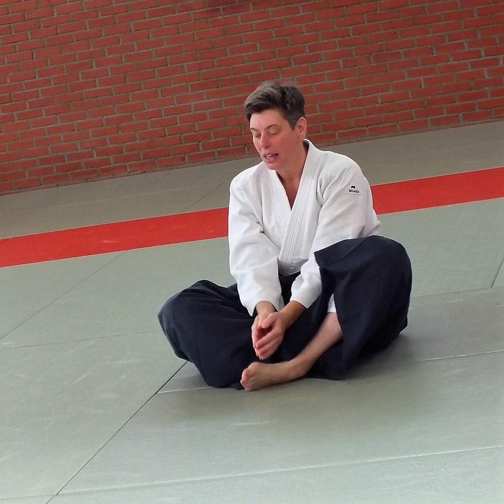 Mireille Vanderbruggen - 2de Dan Aikikai - Initiator BLOSO - Instructeur B BLOSO